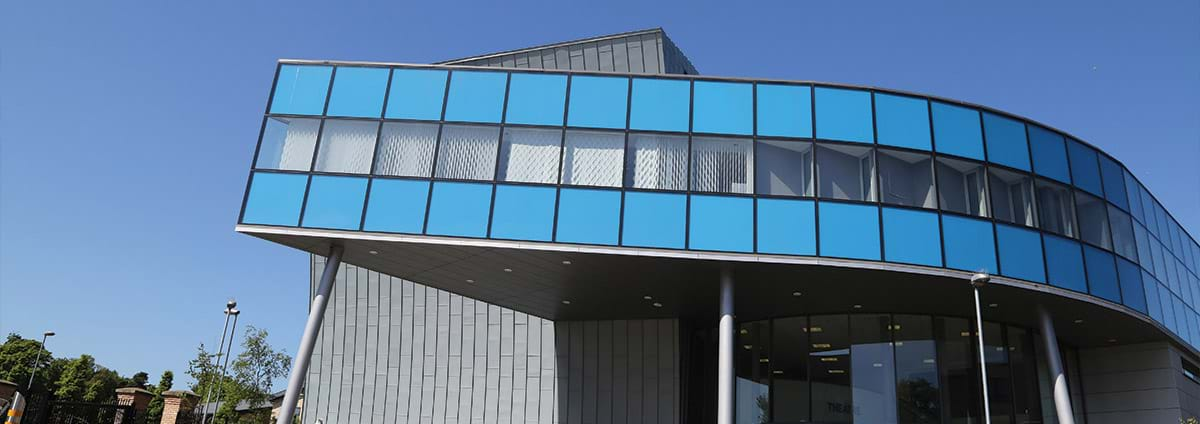 a photograph showing the outside of Space Bangor campus.