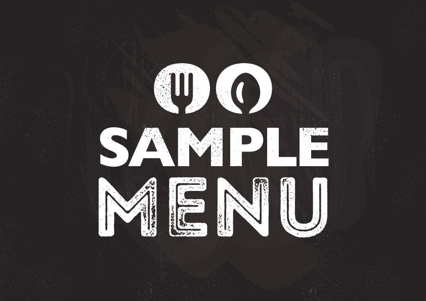 sample menus serc